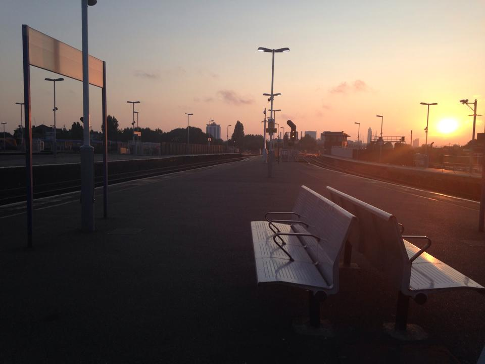 Sunrise at Clapham Junction Station