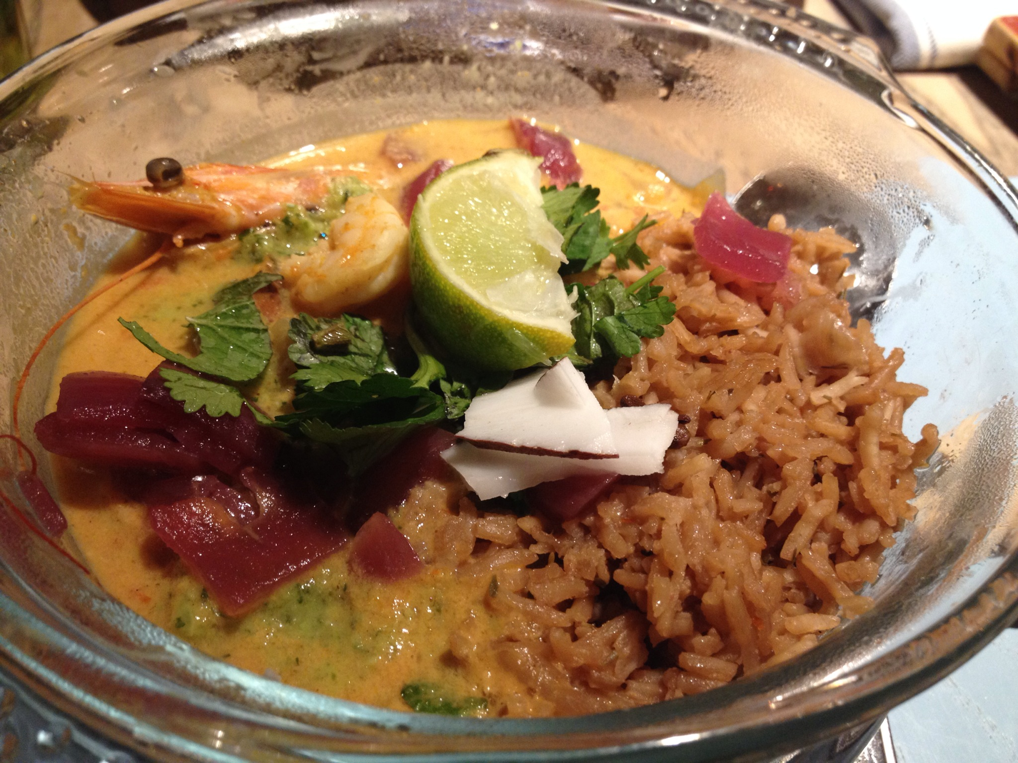 Turtle Bay - Curry, Shrimp and Mango