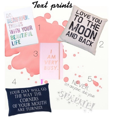 Text Prints - Home Decor