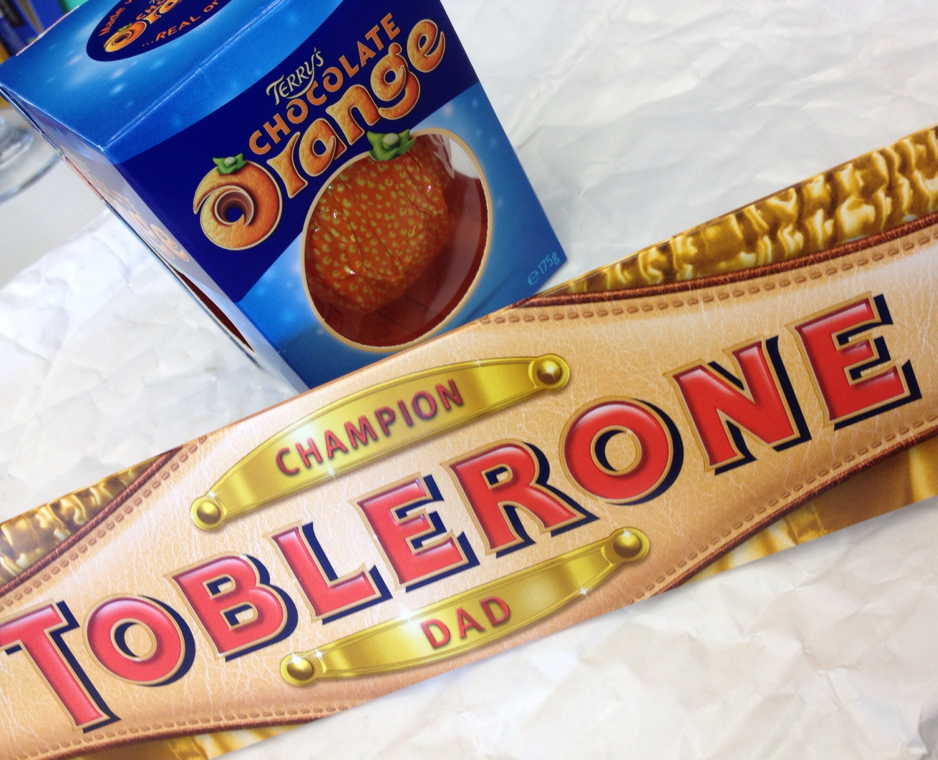 Toblerone and Terrys Chocolate orange - Fathers day gifts