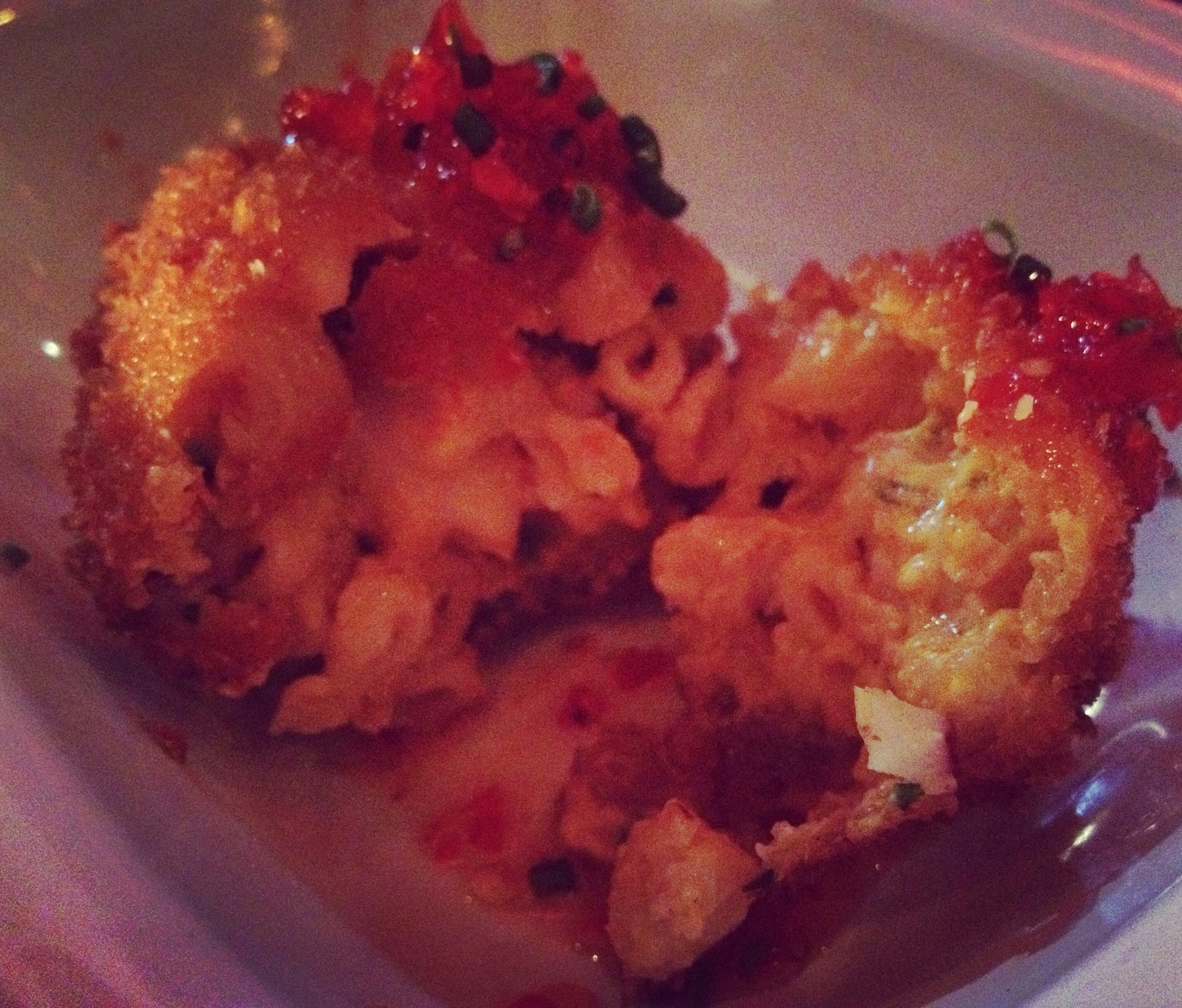 Mac'n'cheese balls - Dirty Bones Soho