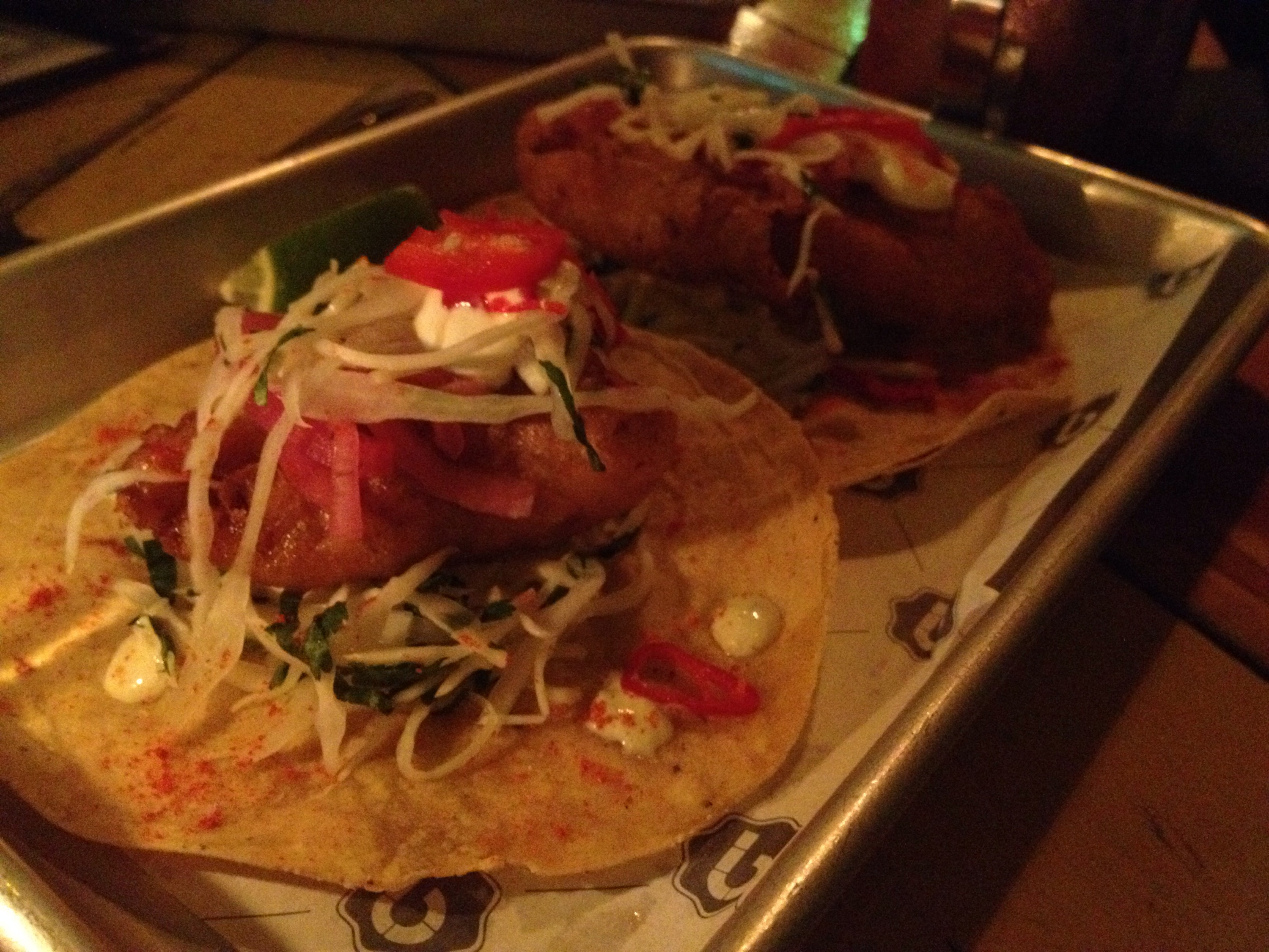 Barrio Soho new Menu - Fish tacos