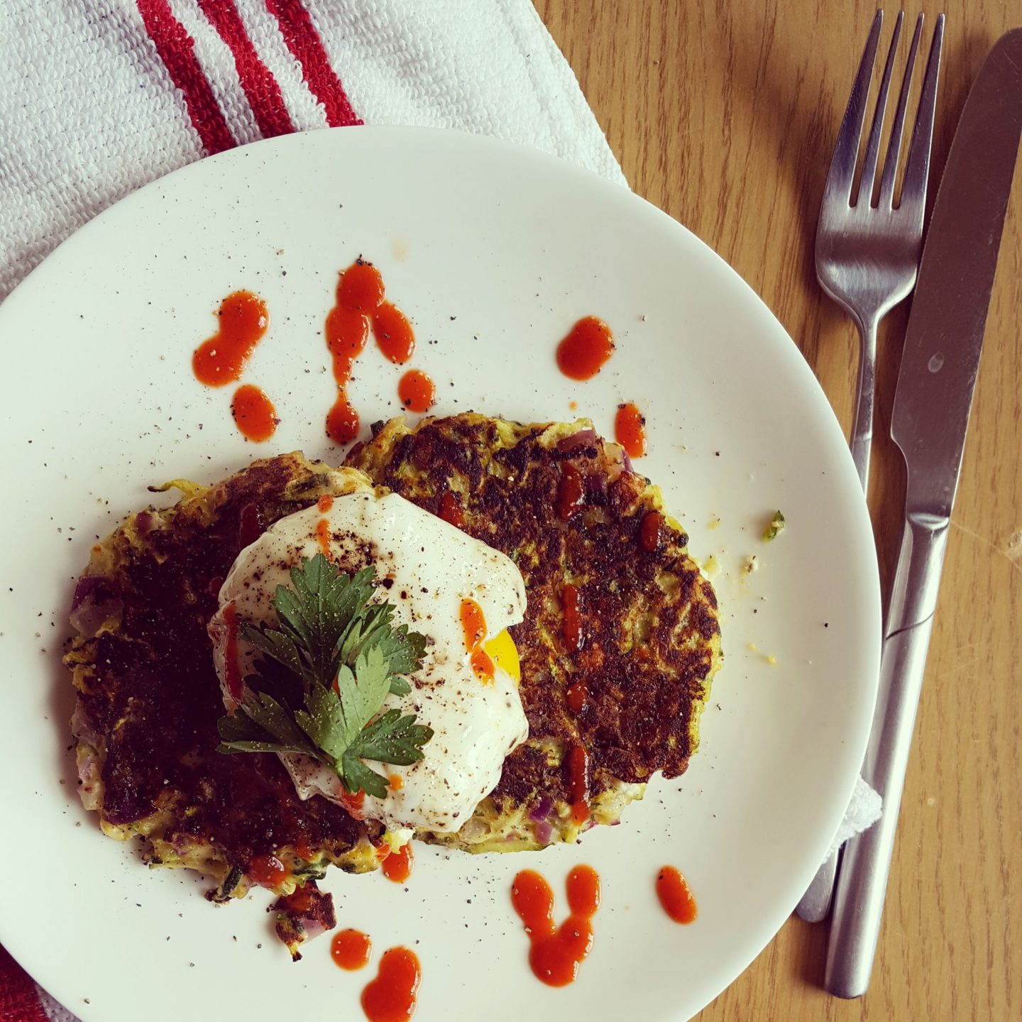 Cheesy Courgette Fritters Recipe
