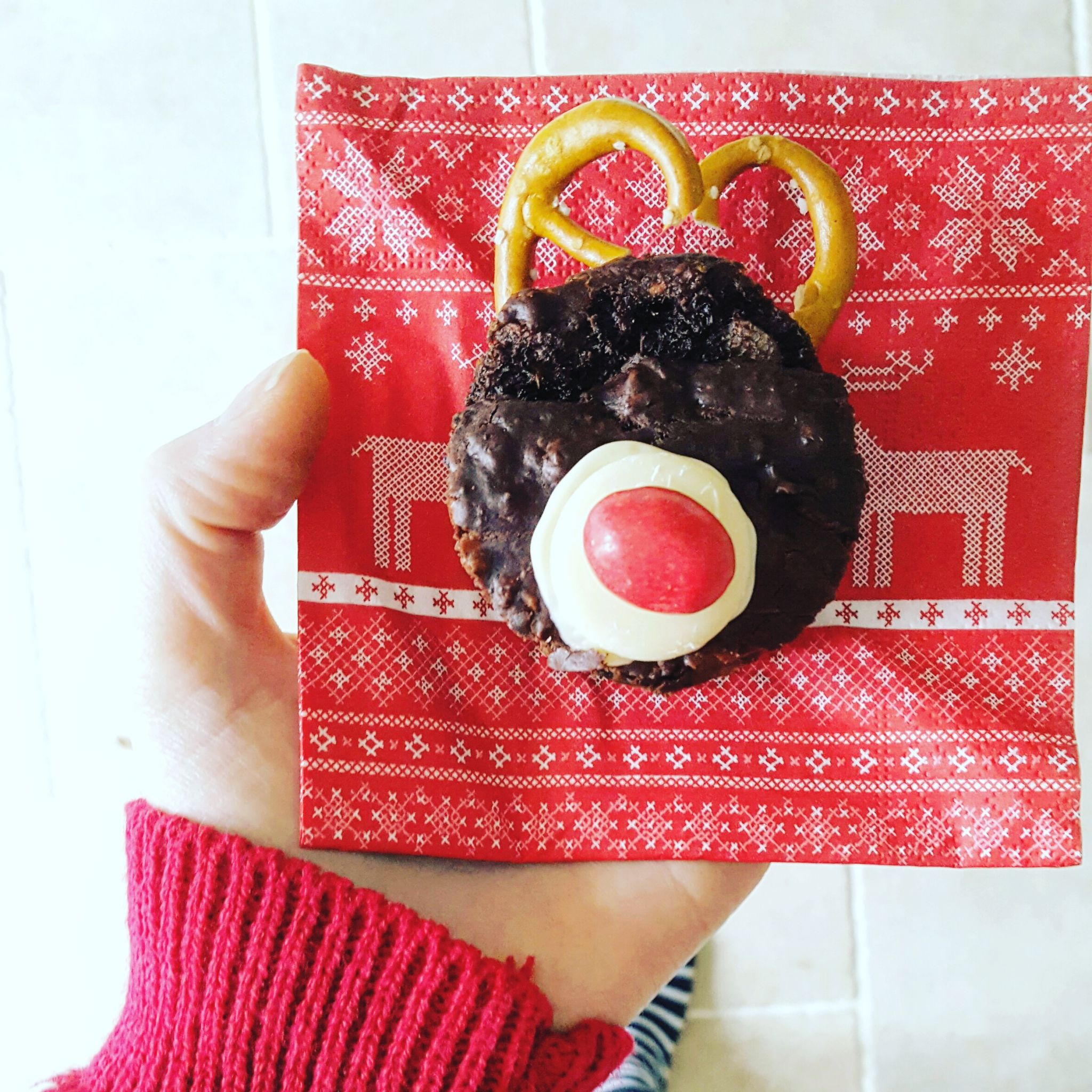 Boohoo recipe, Christmas festive reindeer sweet potato brownie