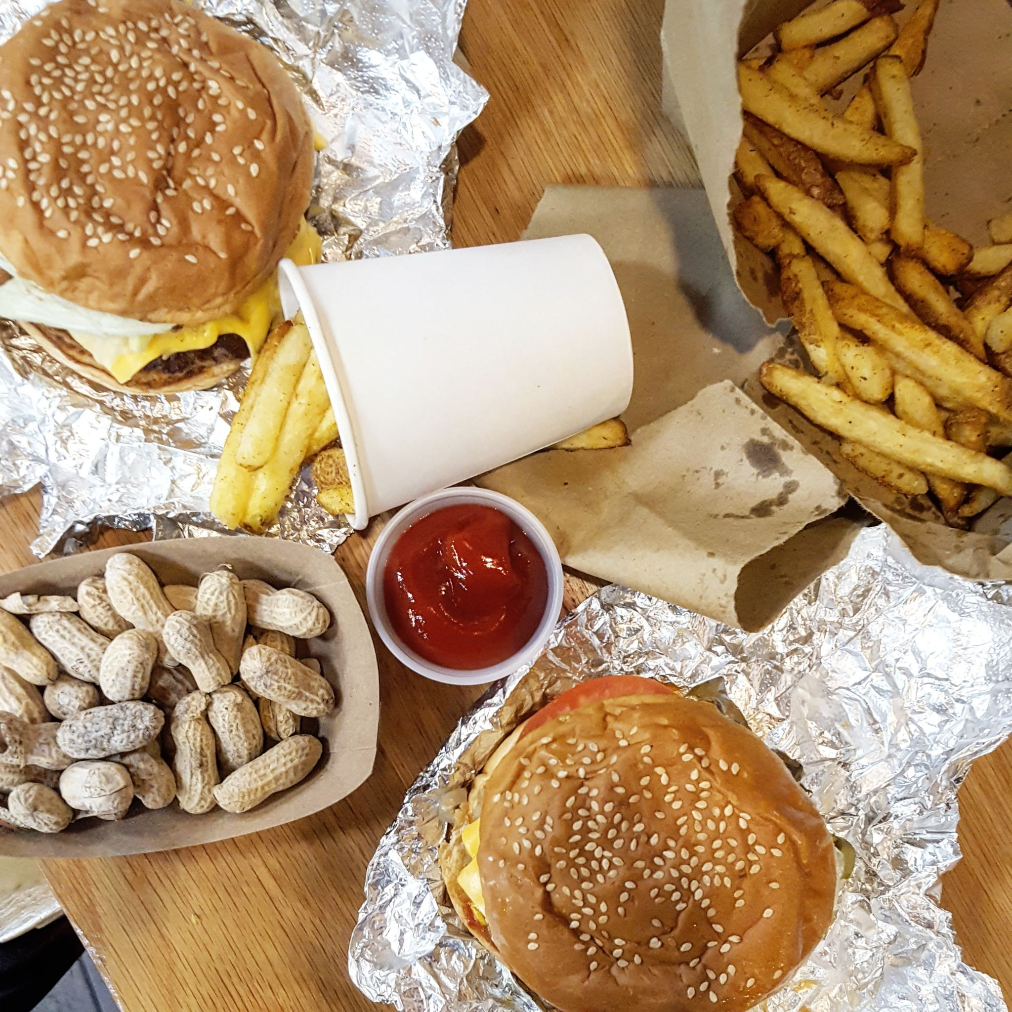 Burgers at Five Guys