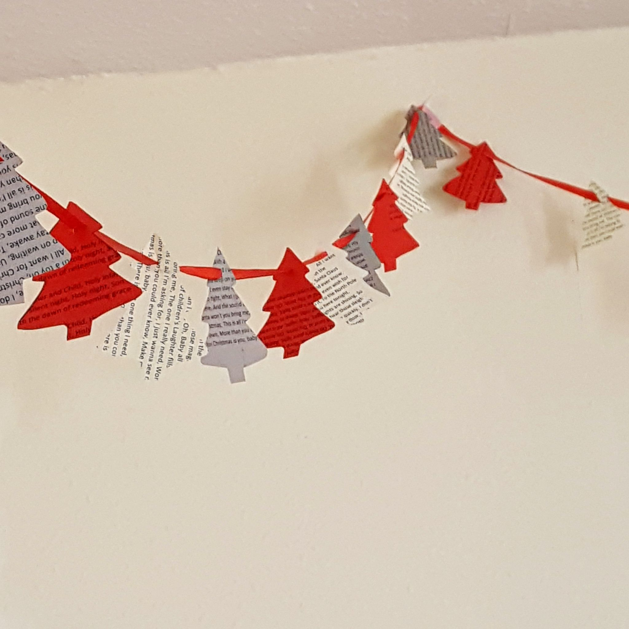Christmas tree bunting homemade Christmas decorations