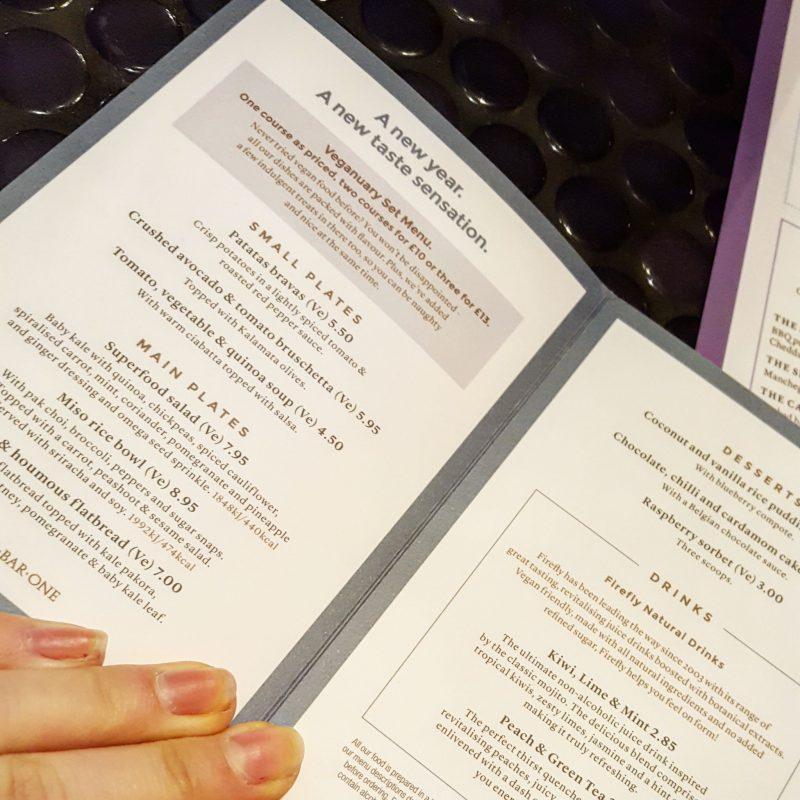 Eating Out|| The Veganuary Menu at All Bar One