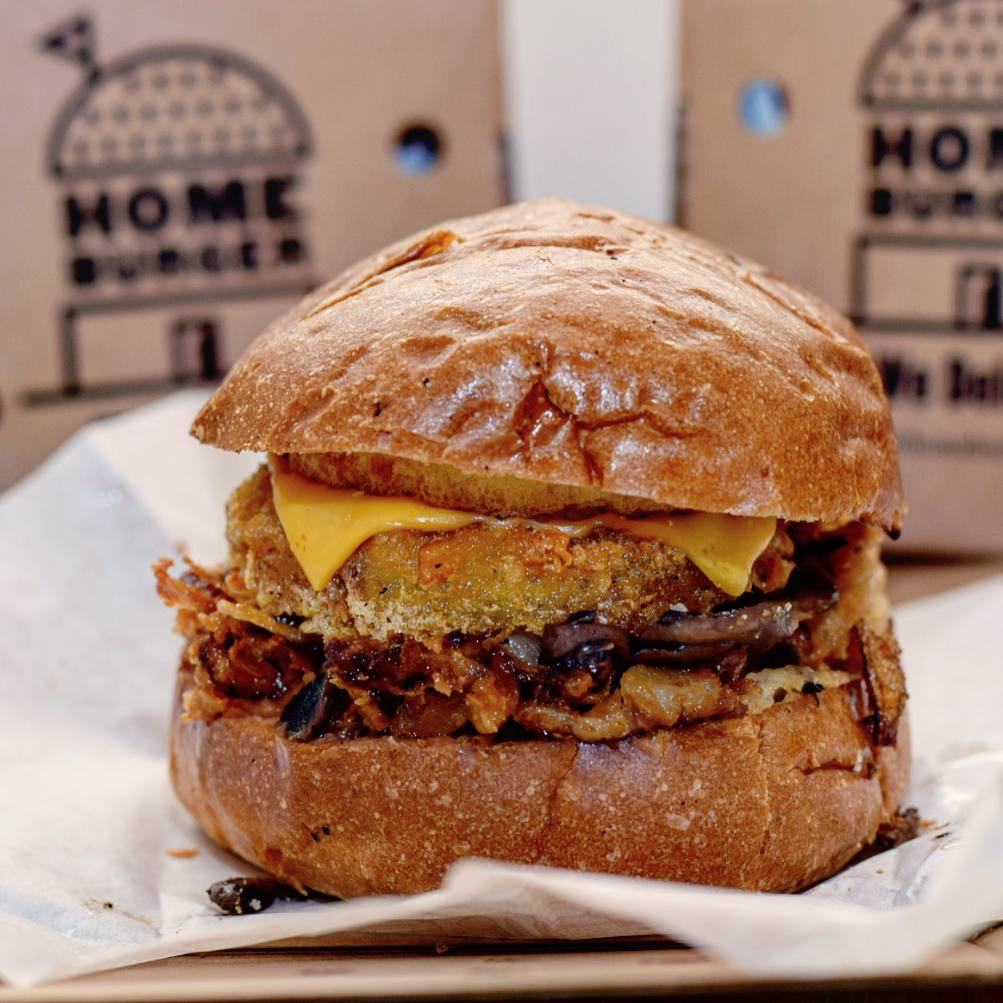Homeburger Breakfast in Bread brunch burger takeaway, delivery