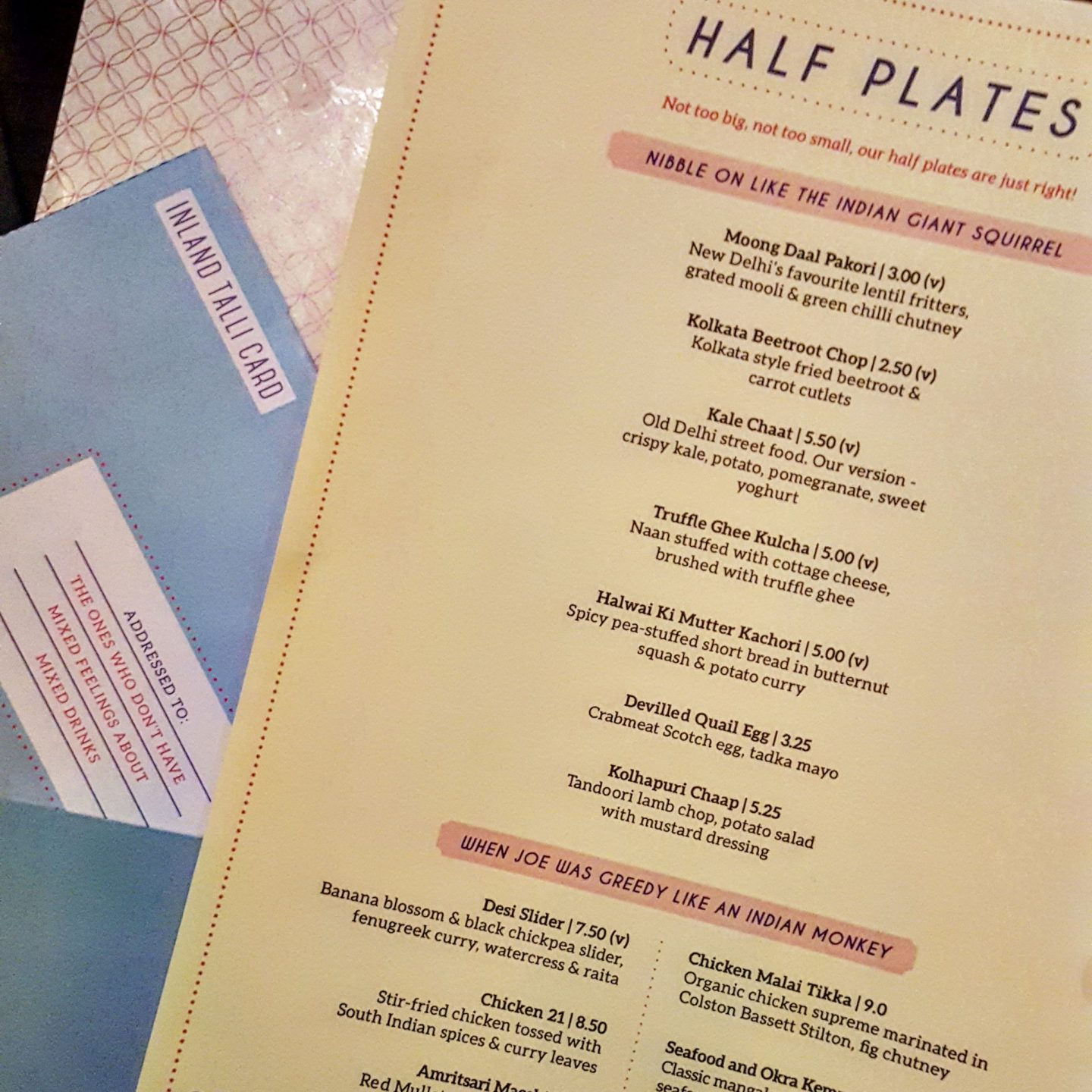 Talli Joe,Indian half-plates, Shaftesbury Avenue