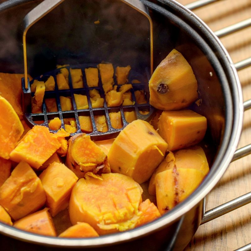 Jerk Sweet Potato Mash with pineapple recipe