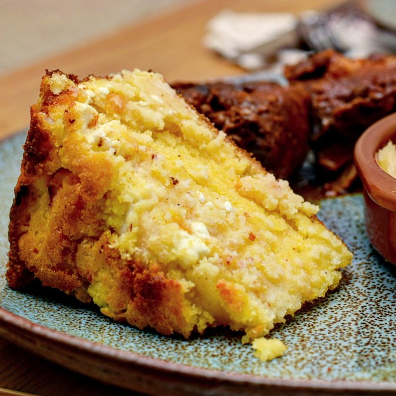 Simple cornbread with feta recipe