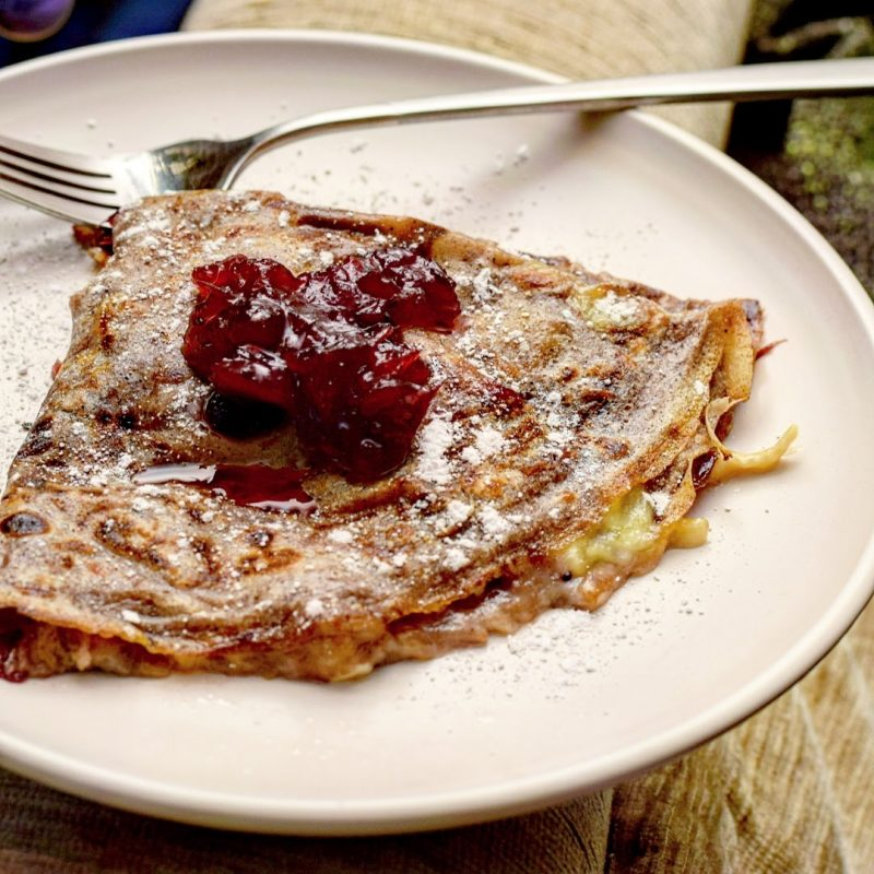 Brie & Cranberry Crepe Recipe