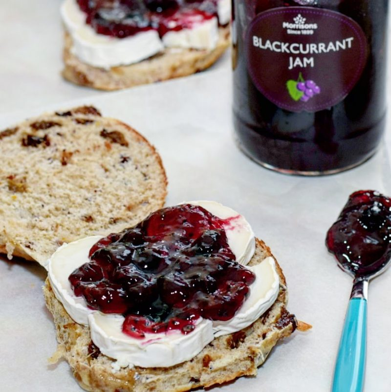 Goats Cheese & Blackcurrant Jam Hot Cross Toasties Recipe