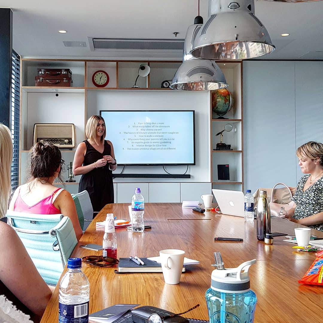 Presentation workshop with Kirsty Hulse