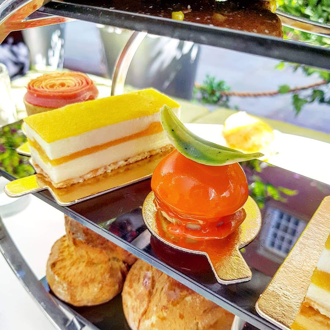 The signature bacardi rum afternoon tea, St. Martins Lane Hotel