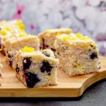 Vegan Lemon & Blueberry Drizzle Cake