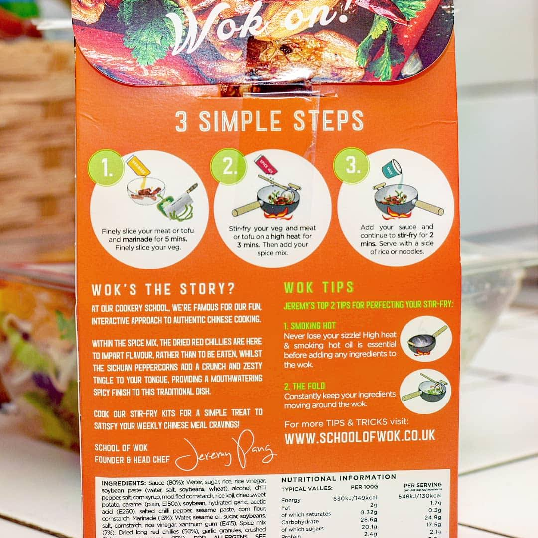 Foodie Monthly - January and February; School of Wok Stir Fry Kit