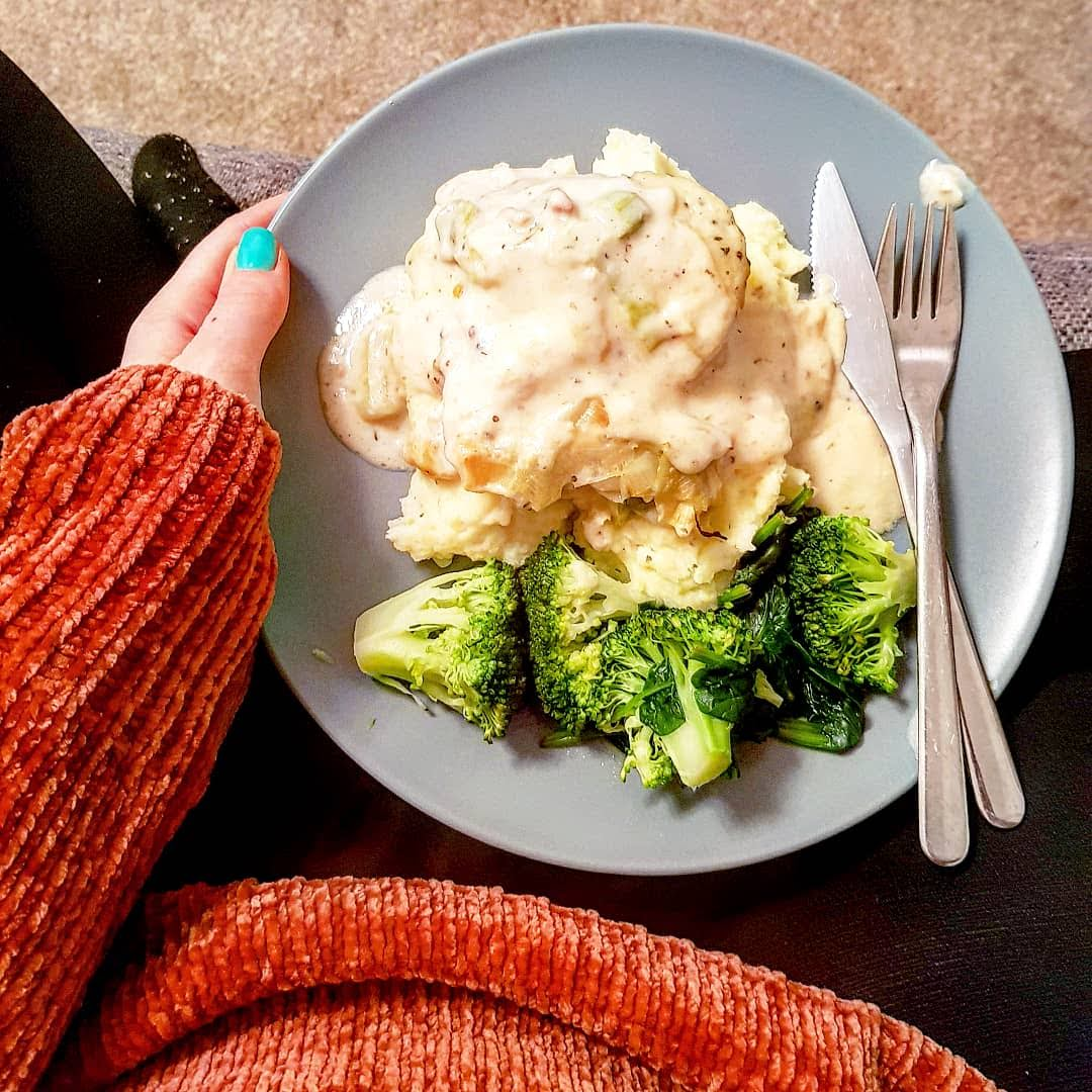 Foodie Monthly - January and February; Coop chicken in creamy white wine sauce