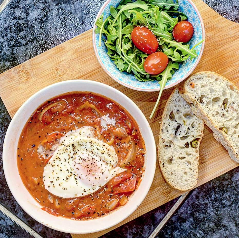 Microwave dinner recipes, shakshuka