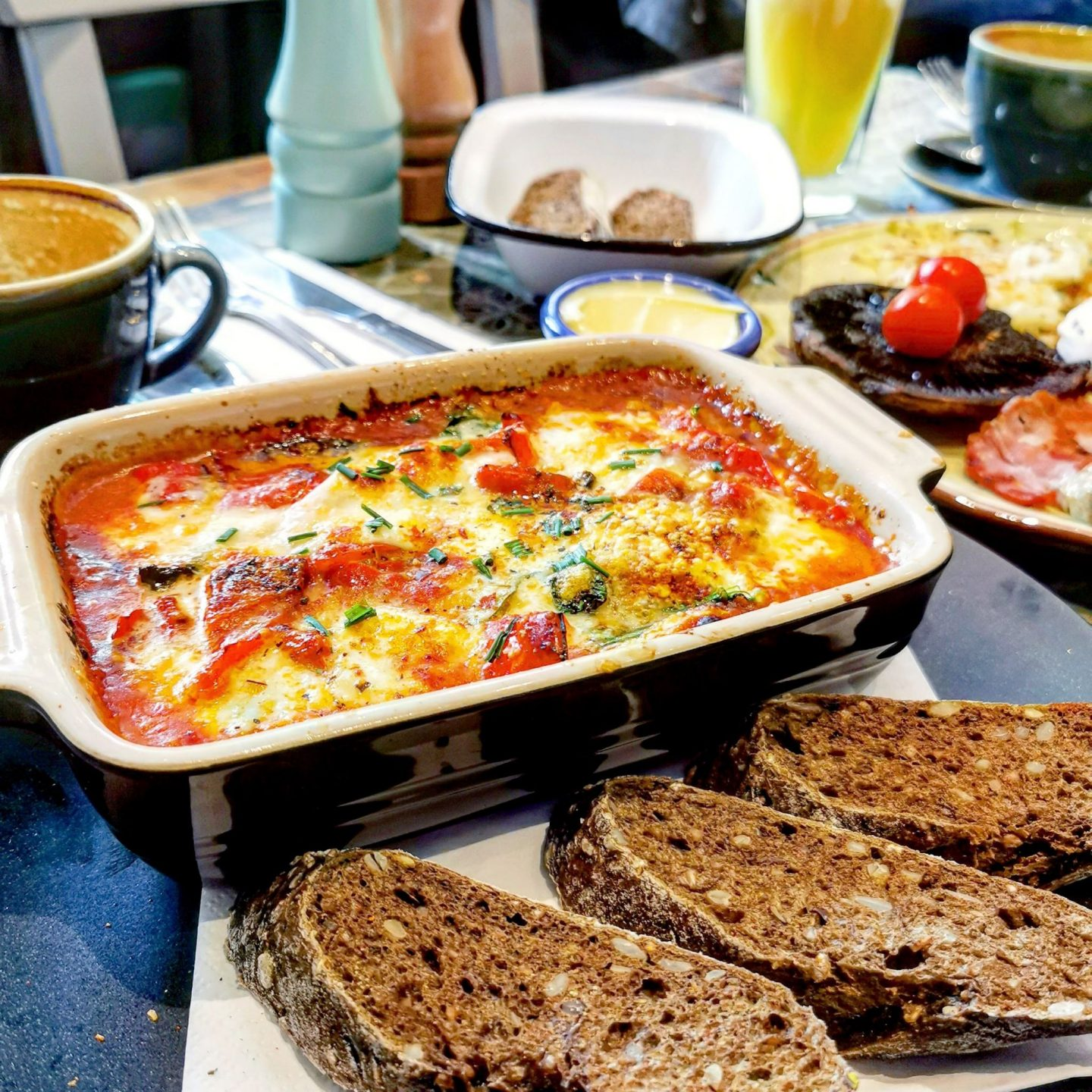 Food Room Highgate, Baked eggs with fresh sourdough