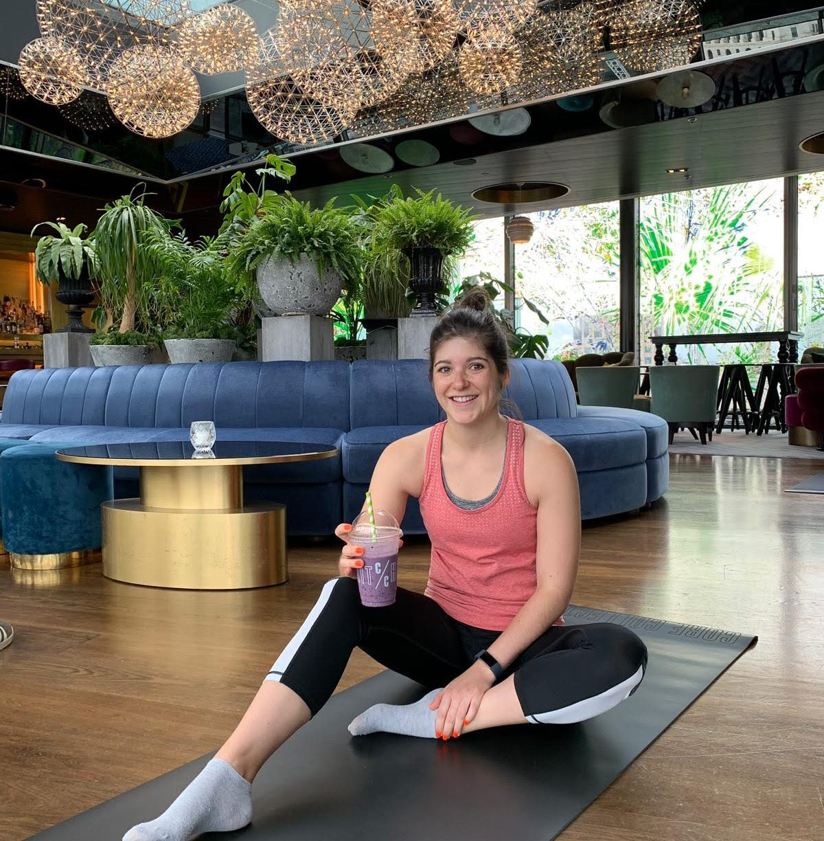 Skyline stretch, power yoga at Sea Containers