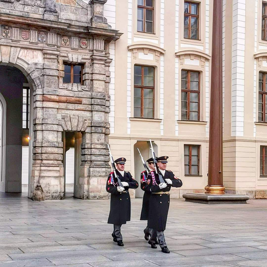Change of the guards at Prague Castle