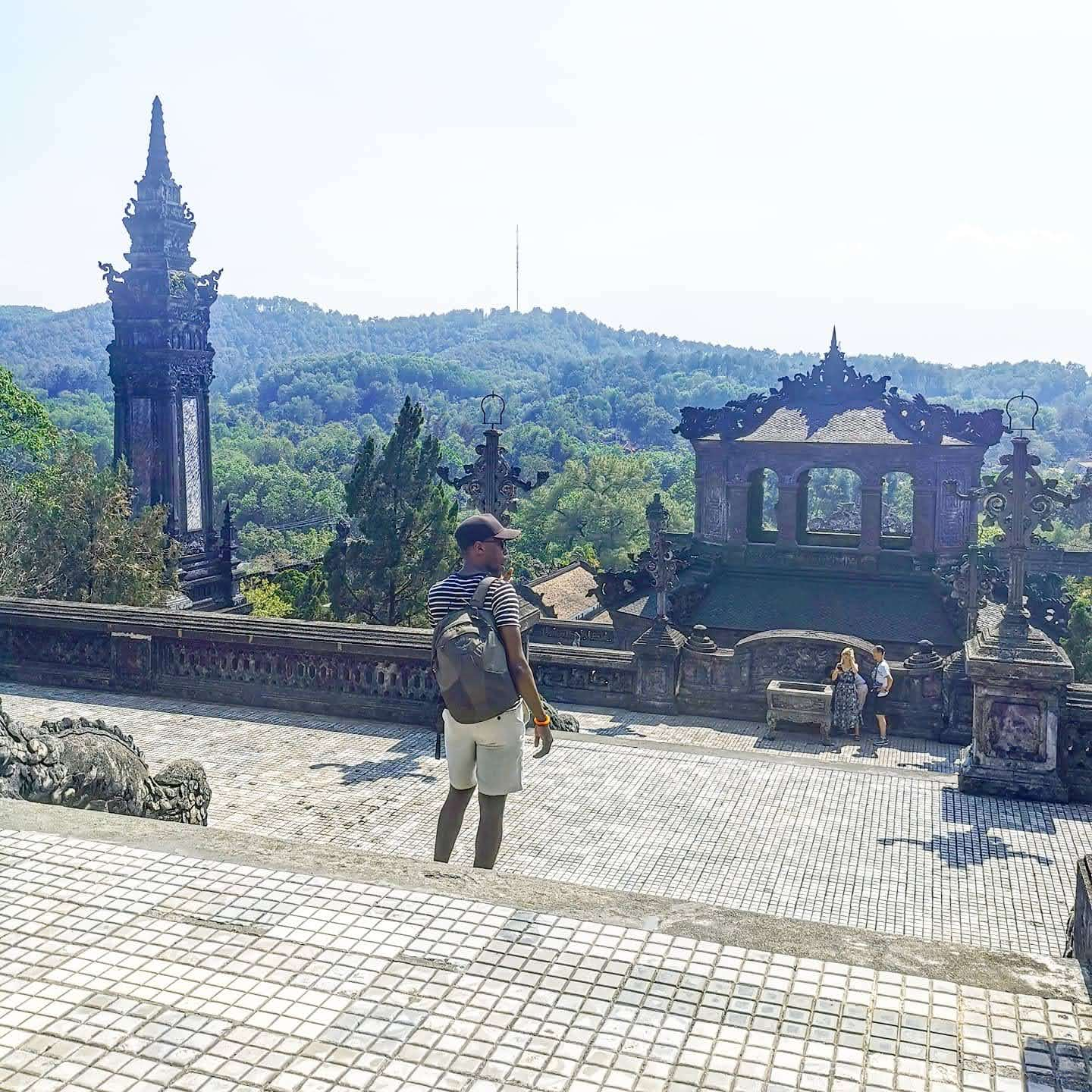 views from Khai Dinh Tomb
